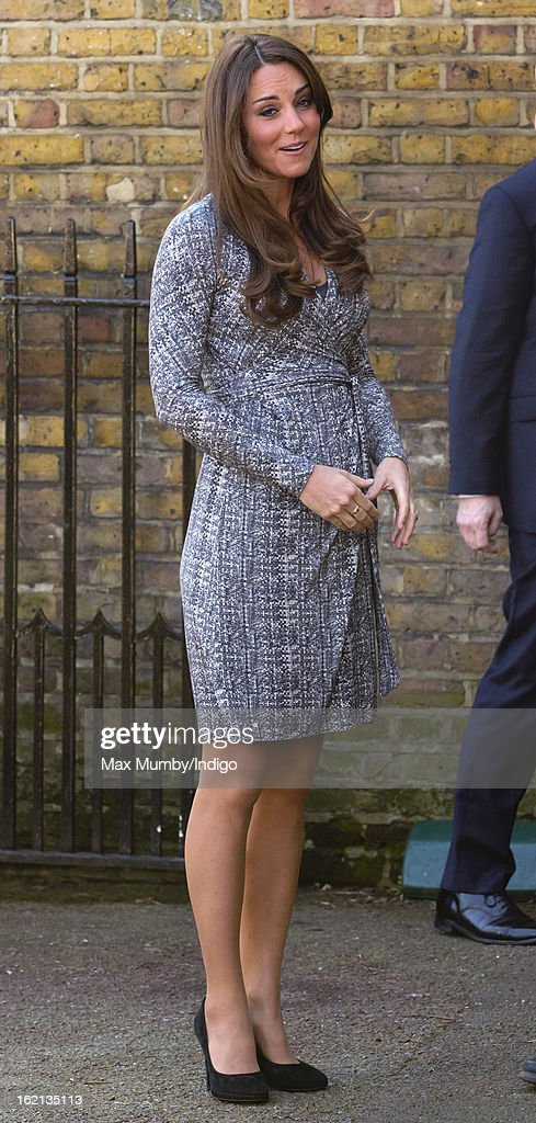 Catherine, Duchess of Cambridge, in her role as Patron of Action on Addiction, arrives for a visit to Hope House, a residential treatment centre, on February 19, 2013 in London, England.