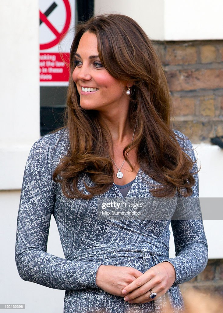 Catherine, Duchess of Cambridge, in her role as Patron of Action on Addiction, leaves Hope House after visiting the residential treatment centre, on February 19, 2013 in London, England.