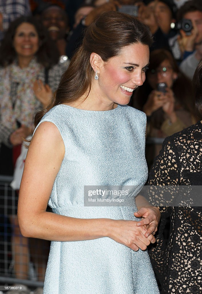 Catherine, Duchess of Cambridge, in her role as Patron of The Art Room, attends an evening reception to celebrate the work of the charity at the National Portrait Gallery on April 24, 2013 in London, England.