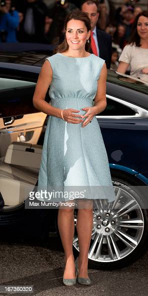 Catherine Duchess of Cambridge in her role as Patron of The Art Room attends an evening reception to celebrate the work of the charity at the...