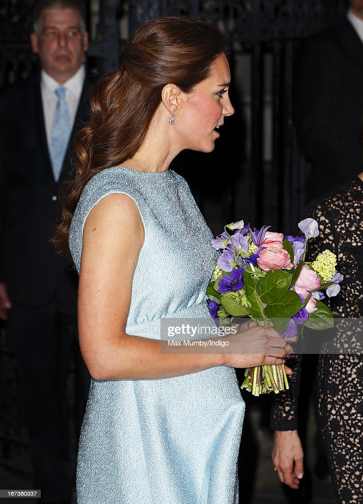 <a gi-track='captionPersonalityLinkClicked' href=/galleries/search?phrase=Catherine+-+Duchess+of+Cambridge&family=editorial&specificpeople=542588 ng-click='$event.stopPropagation()'>Catherine</a>, Duchess of Cambridge, in her role as Patron of The Art Room, attends an evening reception to celebrate the work of the charity at the National Portrait Gallery on April 24, 2013 in London, England.