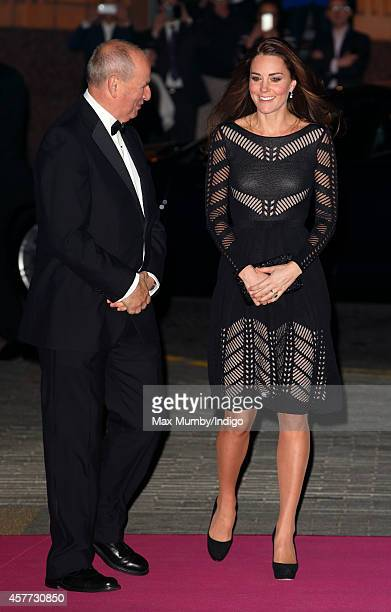 Catherine Duchess of Cambridge is greeted by Chief Executive Nick Barton as she attends the Action on Addiction Autumn Gala Evening at L'Anima on...