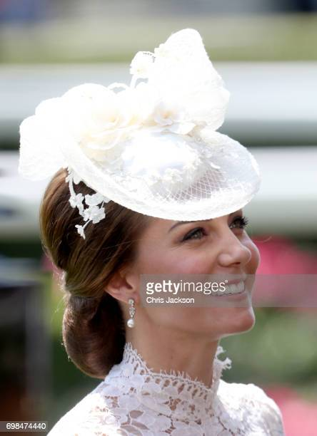 Catherine Duchess of Cambridge is seen in the Parade Ring as she attends Royal Ascot 2017 at Ascot Racecourse on June 20 2017 in Ascot England