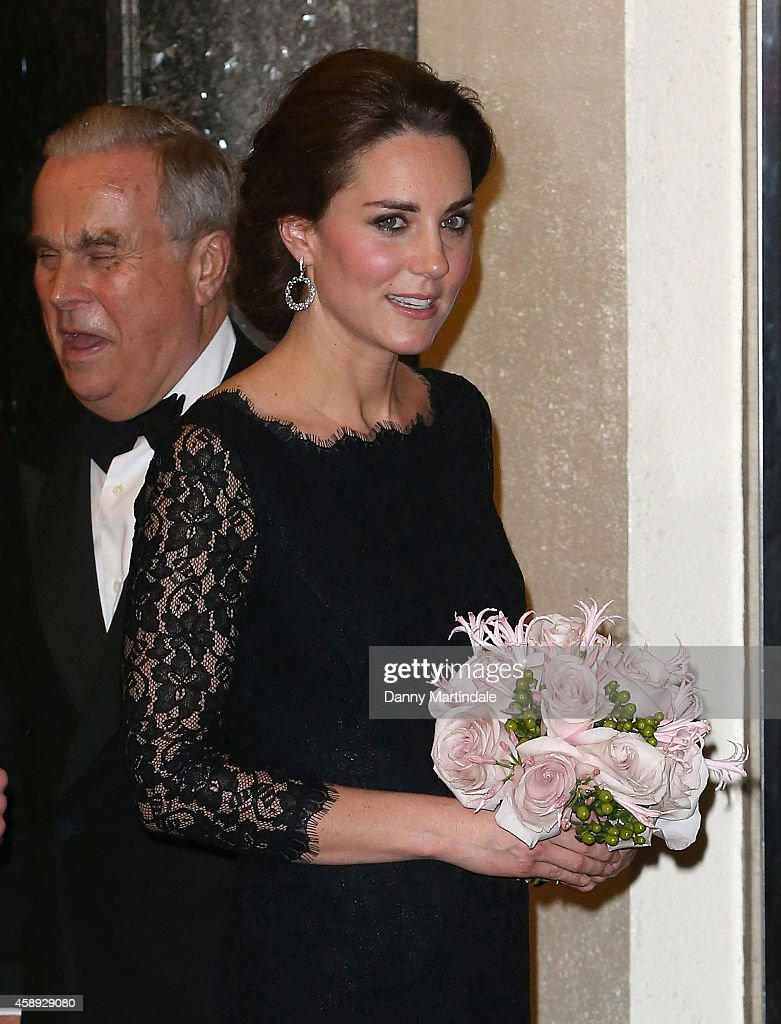Catherine, Duchess of Cambridge is seen leaving the The Royal Variety Performanc at London Palladium on November 13, 2014 in London, England.