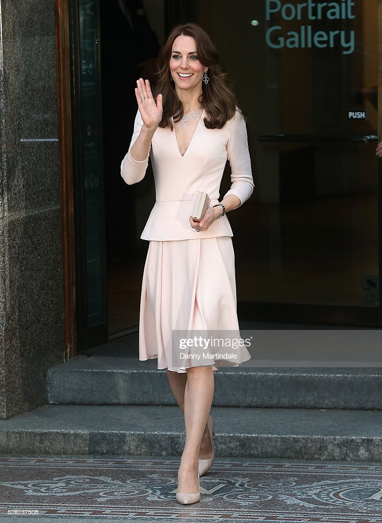 Catherine, Duchess of Cambridge is seen leaving the 'Vogue 100: A Century Of Style' exhibition at National Portrait Gallery on May 4, 2016 in London, England. The Duchess appears on the cover of the centenary issue in June 2016.