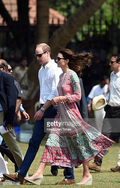 Catherine Duchess Of Cambridge known as Kate Middleton before her marriage and Prince William Duke of Cambridge along with former Indian cricketers...
