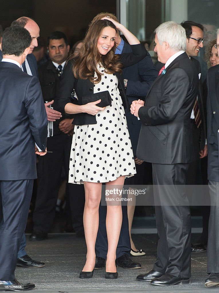 Catherine, Duchess of Cambridge leaves after attending the Inauguration Of Warner Bros. Studios Leavesden on April 26, 2013 in Watford, England.