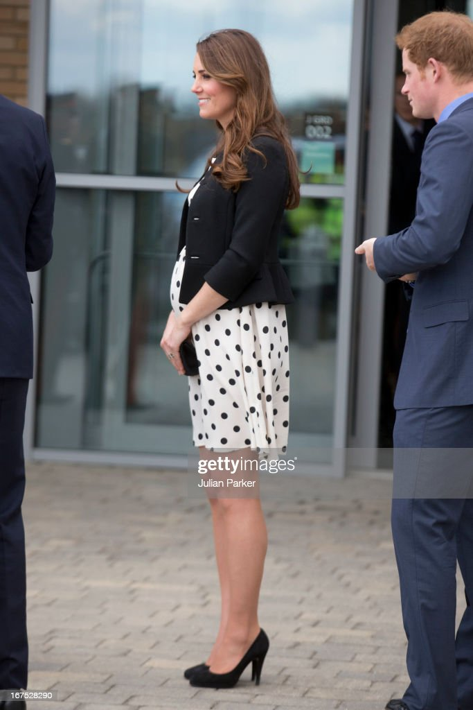 <a gi-track='captionPersonalityLinkClicked' href=/galleries/search?phrase=Catherine+Duchess+of+Cambridge&family=editorial&specificpeople=542588 ng-click='$event.stopPropagation()'>Catherine Duchess of Cambridge</a> leaves after attending the Inauguration Of Warner Bros. Studios Leavesden on April 26, 2013 in Watford, England.