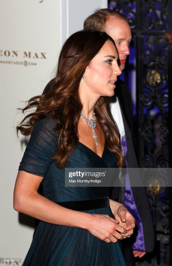 Catherine, Duchess of Cambridge leaves after attending The Portrait Gala 2014: Collecting to Inspire at the National Portrait Gallery on February 11, 2014 in London, England.
