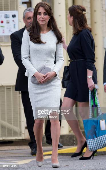 Catherine Duchess of Cambridge leaves after visiting a rehabiltation centre at HMP Send on September 25 2015 in Woking England