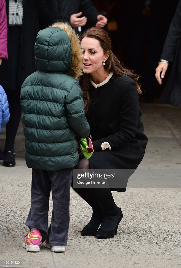 Catherine, Duchess of Cambridge, leaves after visiting Northside Center for Child Development on December 8, 2014 in New York City. The royal couple are on an official three-day visit to New York with Prince William also meeting President Barack Obama in Washington D.C on Monday.
