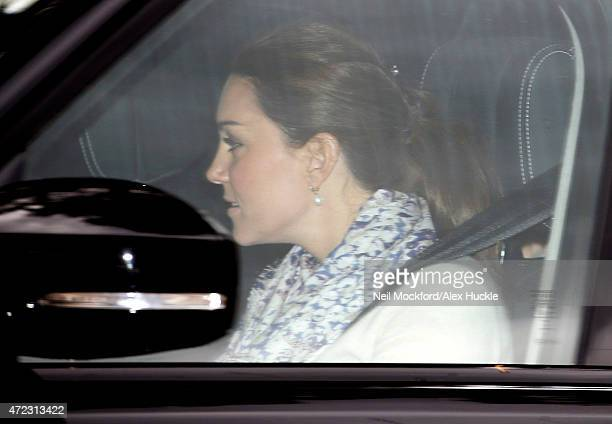 Catherine Duchess of Cambridge leaves Kensington Palace on May 6 2015 in London England
