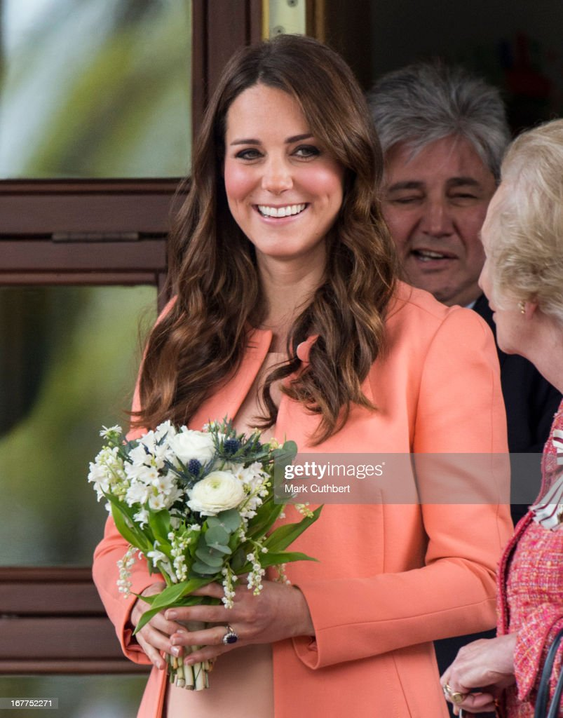 Catherine, Duchess of Cambridge leaves Naomi House on April 29, 2013 near Winchester, England.