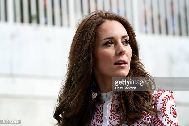 Catherine Duchess of Cambridge leaves the Immigrant Services Society a charitable organisation that provides targeted programs for refugees women...