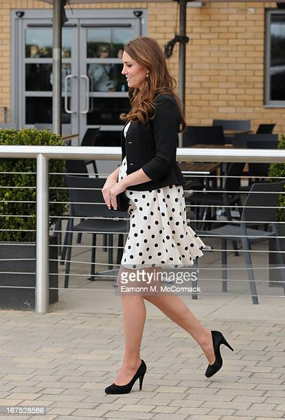 Catherine Duchess of Cambridge leaves the Inauguration Of Warner Bros Studios Leavesden on April 26 2013 in Hertfordshire England