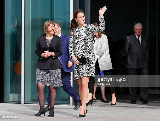 Catherine Duchess of Cambridge leaves the Turner Contemporary Art Gallery on March 11 2015 in Margate England