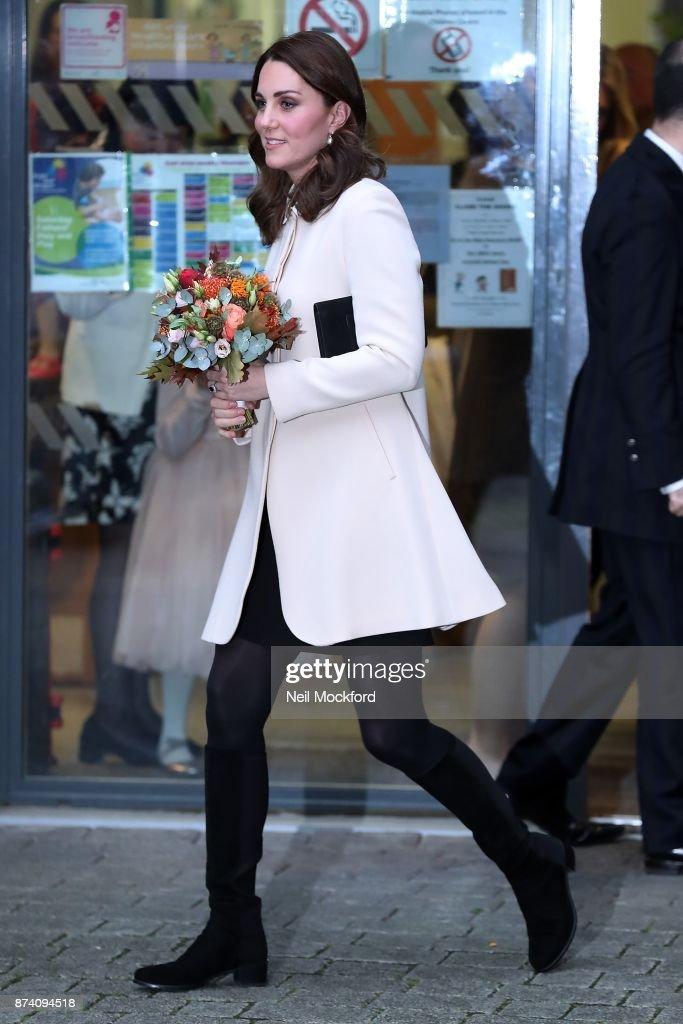 Catherine, Duchess of Cambridge leaving the Hornsey Road Children's Centre on November 14, 2017 in London, England.