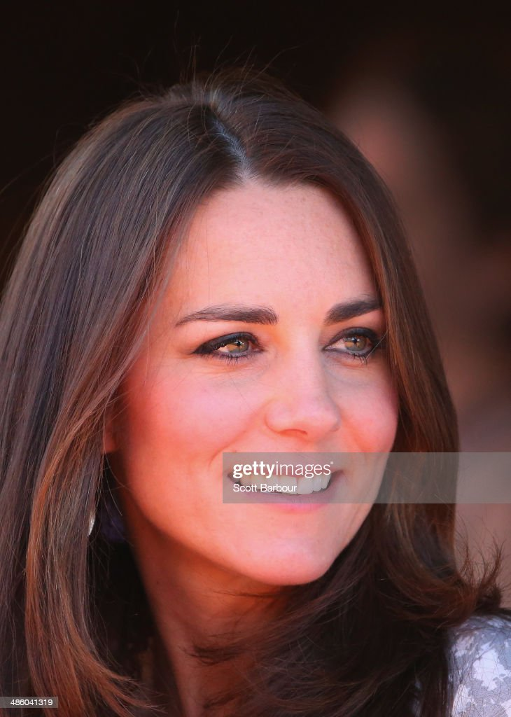 Catherine, Duchess of Cambridge looks on at the National Indigenous Training Academy on April 22, 2014 in Ayers Rock, Australia. The Duke and Duchess of Cambridge are on a three-week tour of Australia and New Zealand, the first official trip overseas with their son, Prince George of Cambridge.