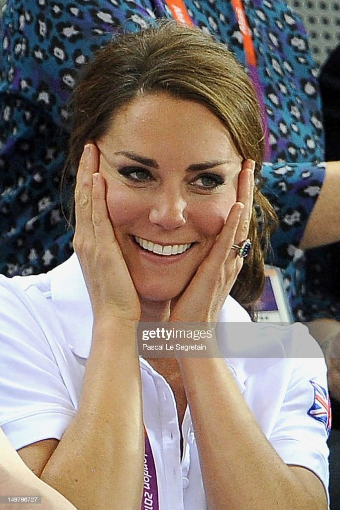Catherine, Duchess of Cambridge looks on during Day 6 of the London 2012 Olympic Games at Velodrome on August 2, 2012 in London, England.