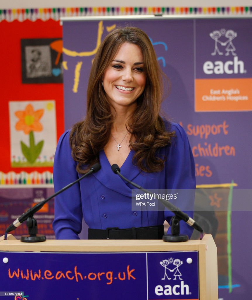 Catherine, Duchess of Cambridge makes a speech during a visit to open The Treehouse Children's Hospice on March 19, 2012 in Ipswich, England.