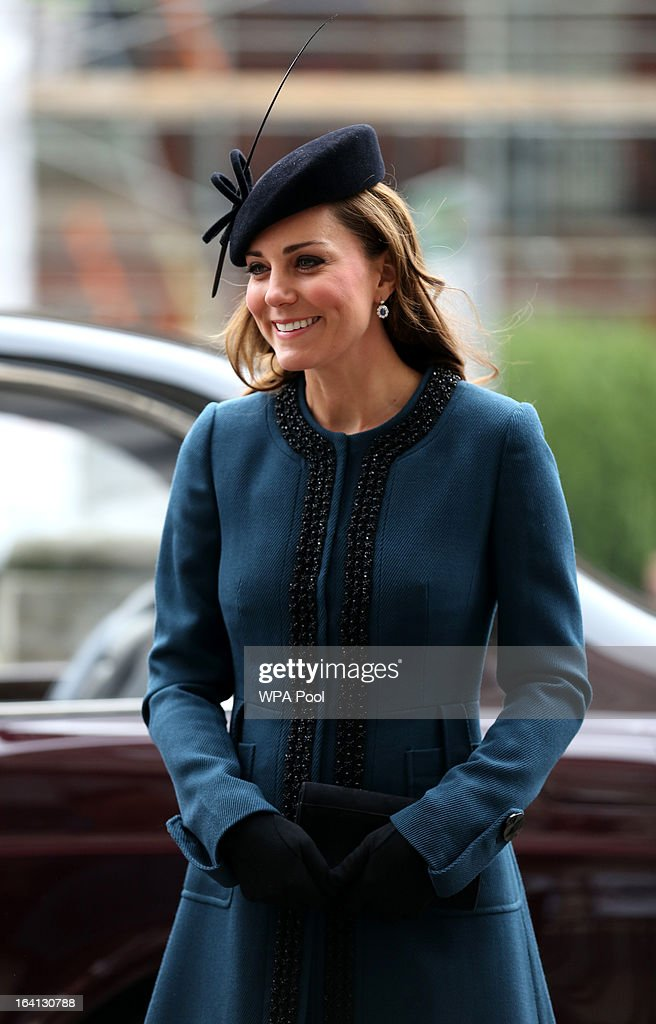 Catherine, Duchess of Cambridge makes an official visit to Baker Street Underground Station, to mark 150th anniversary of the London Underground on March 20, 2013 in London, England.