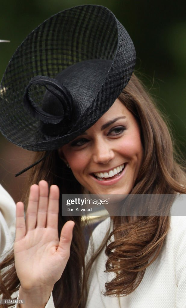 Catherine, Duchess of Cambridge makes her way down the Mall during the Trooping the Colour procession on June 11, 2011 in London, England. The ceremony of Trooping the Colour is believed to have first been performed during the reign of King Charles II. In 1748, it was decided that the parade would be used to mark the official birthday of the Sovereign. More than 600 guardsmen and cavalry make up the parade, a celebration of the Sovereign's official birthday, although the Queen's actual birthday is on 21 April.