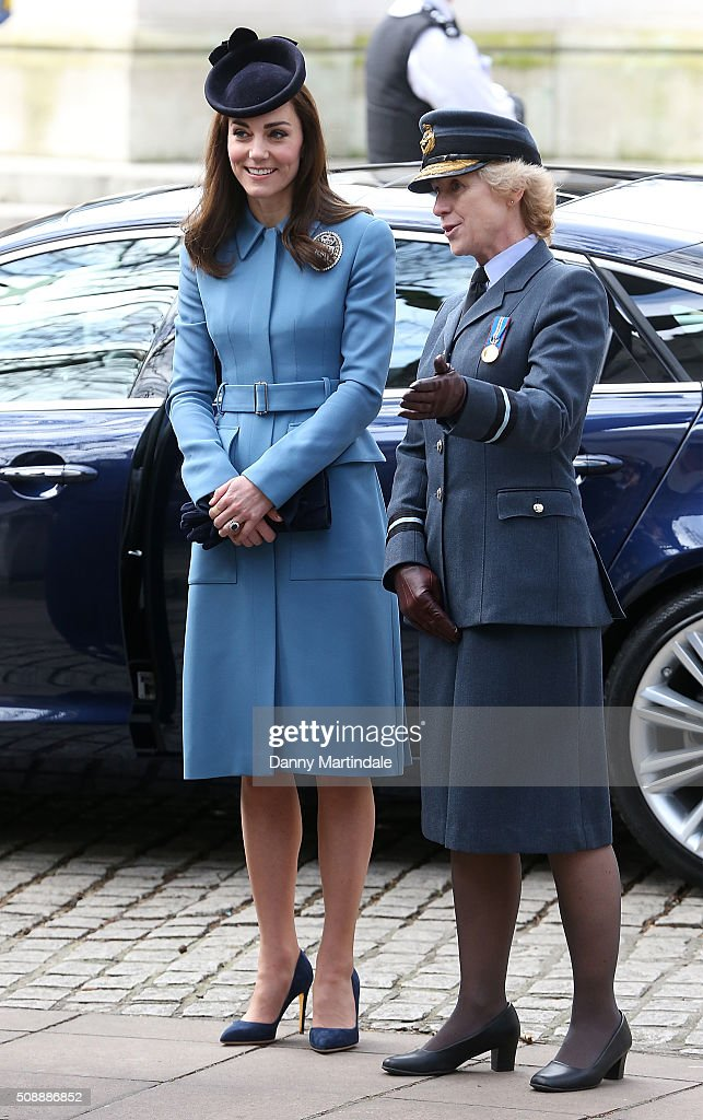 <a gi-track='captionPersonalityLinkClicked' href=/galleries/search?phrase=Catherine+-+Duchess+of+Cambridge&family=editorial&specificpeople=542588 ng-click='$event.stopPropagation()'>Catherine</a>, Duchess of Cambridge marks 75th Anniversary of RAF Air Cadets at St Clement Danes Church on February 7, 2016 in London, England.