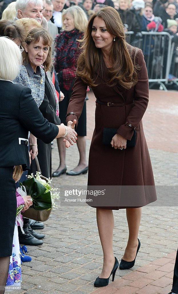 Catherine, Duchess of Cambridge meets the public as she visits the National Fishing Heritage Centre during an official visit to Grimsby on March 5, 2013 in Grimsby, England.