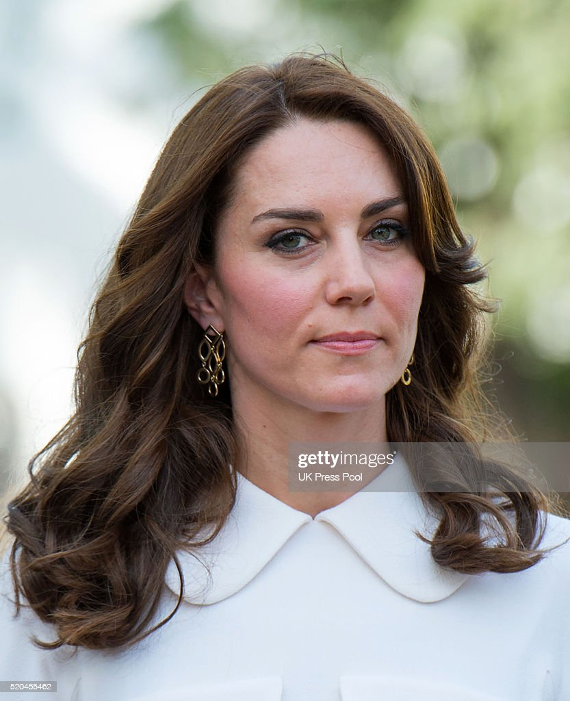 Catherine Duchess of Cambridge on a tour of the Gandhi Smriti museum at Old Birla House on April 11 2016 in New Delhi India