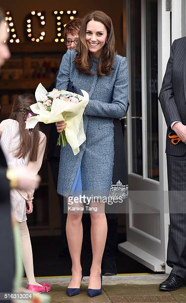 Catherine Duchess Of Cambridge opens a new EACH Charity Shop on March 18 2016 in Holt Norfolk