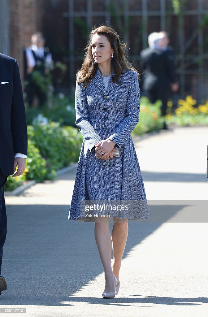 Catherine, Duchess of Cambridge opens The Magic Garden at Hampton Court Palace on May 4, 2016 in London, England.