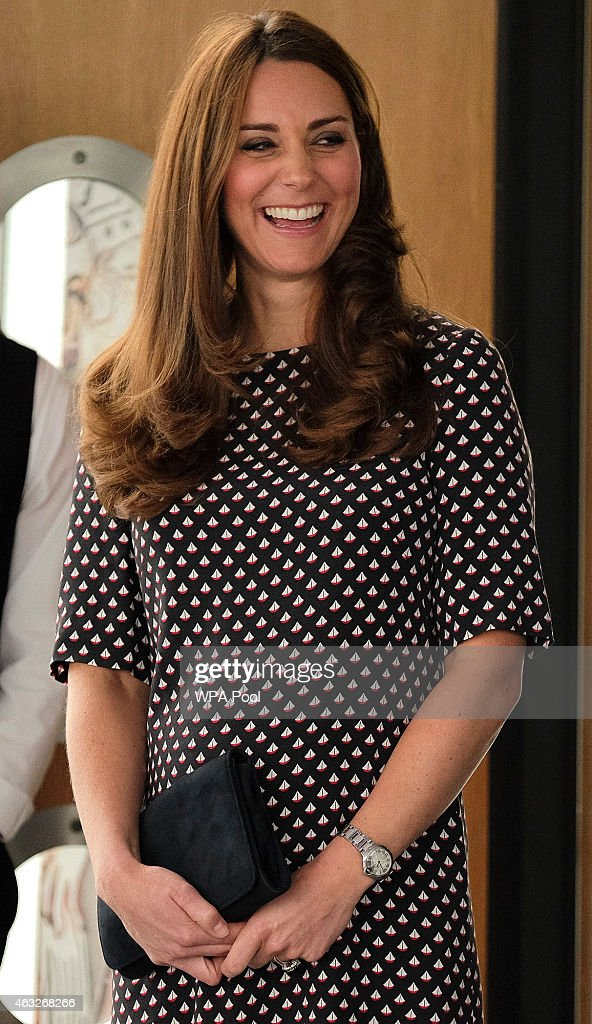 Catherine Duchess of Cambridge patron of the 1851 Trust during a visit to Portsmouth to see the construction site of Ben Ainslie Racing new...
