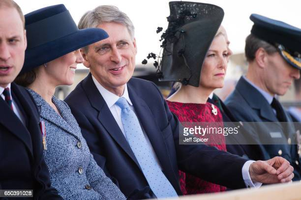 Catherine Duchess of Cambridge Philip Hammond and Sophie Countess of Wessex during the dedication and unveiling of The Iraq and Afghanistan memorial...