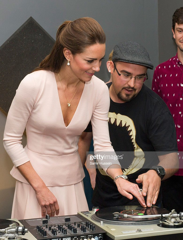 <a gi-track='captionPersonalityLinkClicked' href=/galleries/search?phrase=Catherine+-+Duchess+of+Cambridge&family=editorial&specificpeople=542588 ng-click='$event.stopPropagation()'>Catherine</a>, Duchess of Cambridge plays on DJ decks at the youth community centre, The Northern Sound System in Elizabeth on April 23, 2014 in Adelaide, Australia. The Duke and Duchess of Cambridge are on a three-week tour of Australia and New Zealand, the first official trip overseas with their son, Prince George of Cambridge.