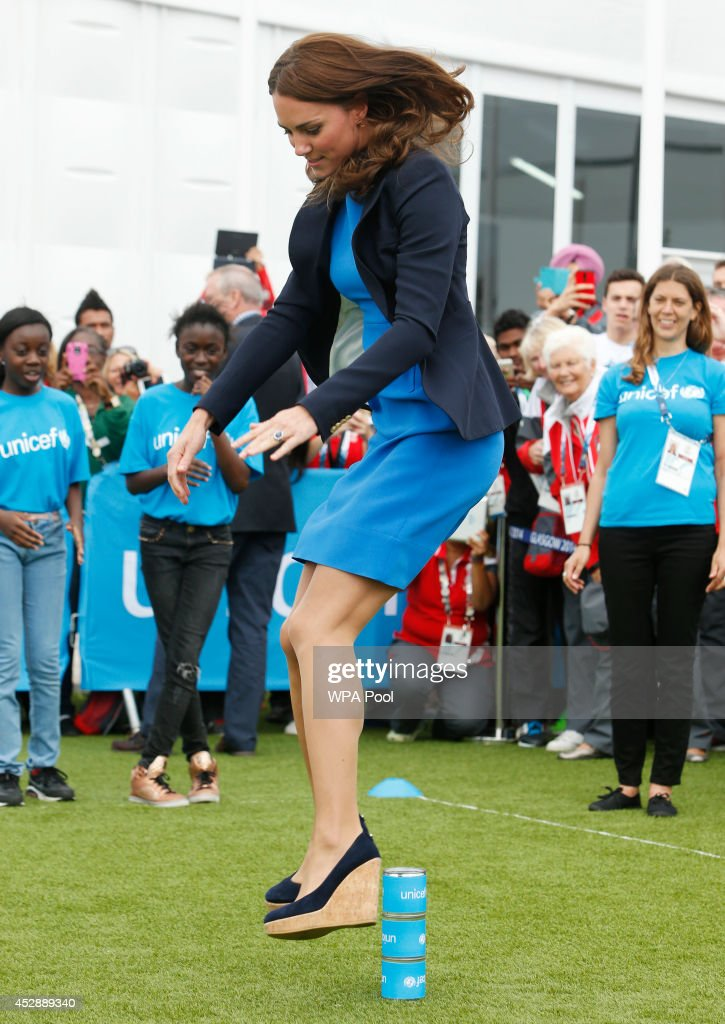 <a gi-track='captionPersonalityLinkClicked' href=/galleries/search?phrase=Catherine+-+Duchess+of+Cambridge&family=editorial&specificpeople=542588 ng-click='$event.stopPropagation()'>Catherine</a>, Duchess of Cambridge plays the South African game of Three Tins during a visit to the Commonwealth Games Village on July 29, 2014 in Glasgow, Scotland.