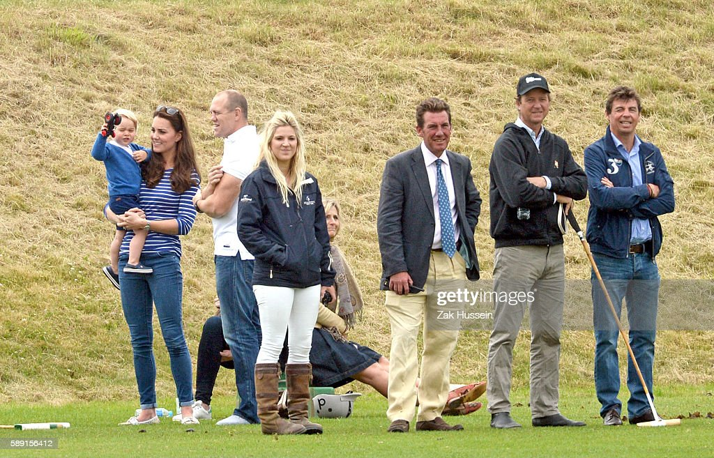 Catherine Duchess of Cambridge Prince George and Mike Tindall attend the Gigaset Charity Polo Match at the Beaufort Polo Club in Tetbury