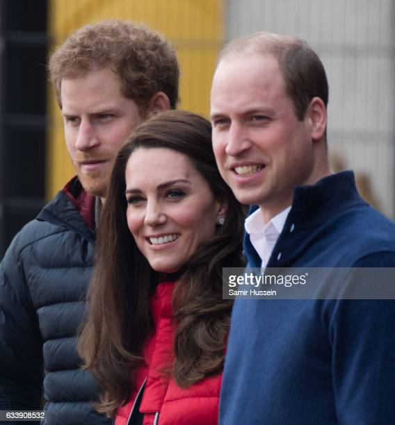 Catherine Duchess of Cambridge Prince Wiliam Duke of Cambridge and Prince Harry attend a training day for the Heads Together team for the London...