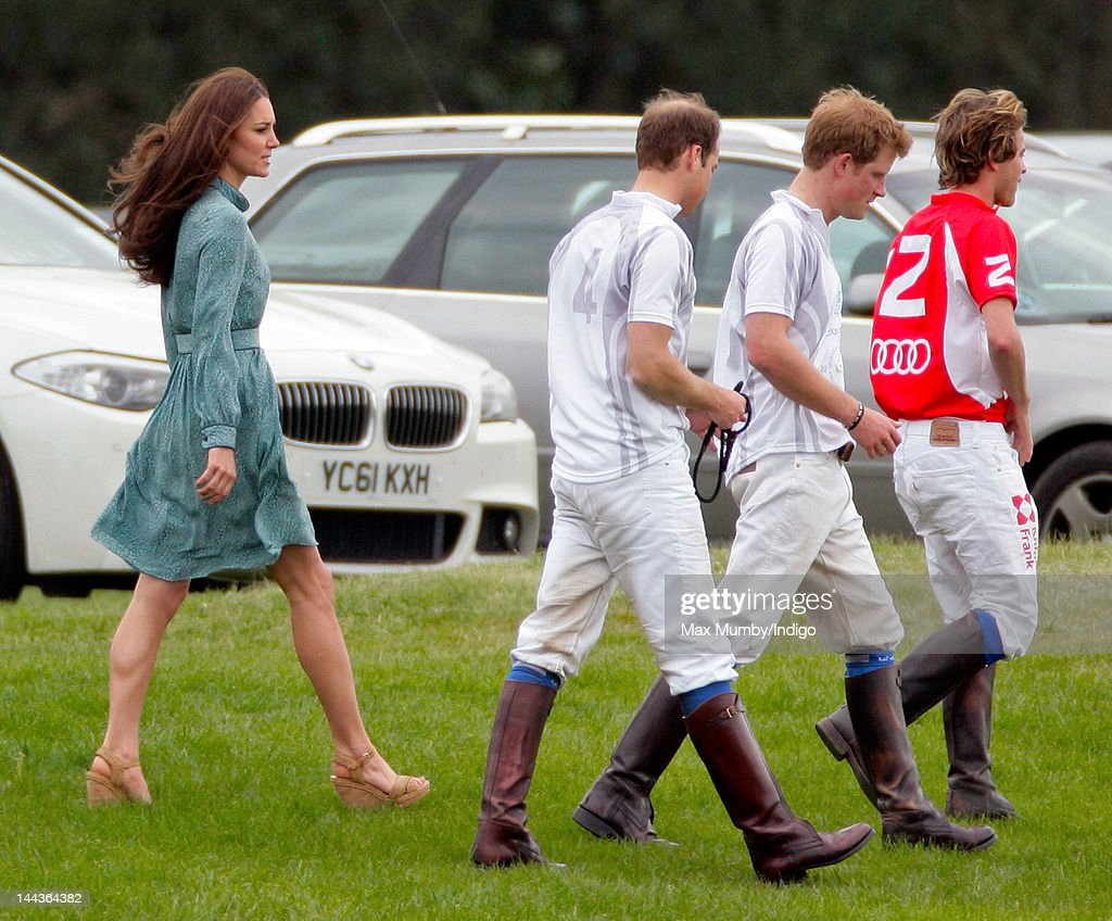 <a gi-track='captionPersonalityLinkClicked' href=/galleries/search?phrase=Catherine+-+Duchess+of+Cambridge&family=editorial&specificpeople=542588 ng-click='$event.stopPropagation()'>Catherine</a>, Duchess of Cambridge, Prince William, Duke of Cambridge and <a gi-track='captionPersonalityLinkClicked' href=/galleries/search?phrase=Prince+Harry&family=editorial&specificpeople=178173 ng-click='$event.stopPropagation()'>Prince Harry</a> attend the Audi Polo Challenge charity polo match, in which Prince William, Duke of Cambridge and <a gi-track='captionPersonalityLinkClicked' href=/galleries/search?phrase=Prince+Harry&family=editorial&specificpeople=178173 ng-click='$event.stopPropagation()'>Prince Harry</a> competed, at Coworth Park Polo Club on May 13, 2012 in Ascot, England.