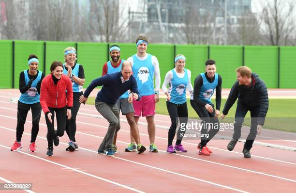 Catherine Duchess of Cambridge Prince William Duke of Cambridge and Prince Harry attend a training day for the Heads Together team for the London...