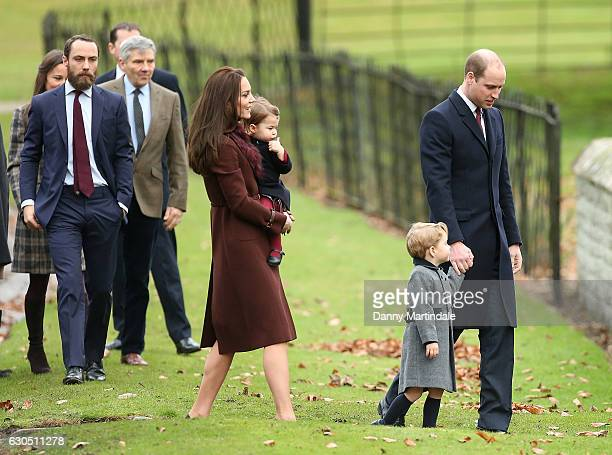 Catherine Duchess of Cambridge Prince William Duke of Cambridge Prince George of Cambridge Princess Charlotte of Cambridge Michael Middleton James...