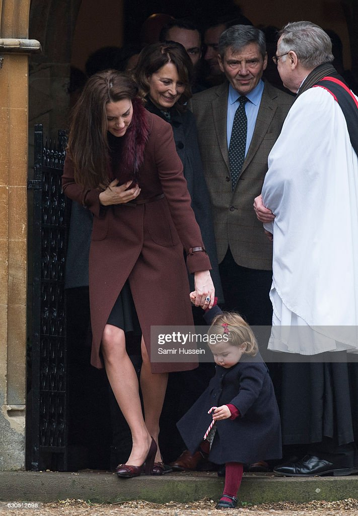 The Middleton Family Attend Church On Christmas Day