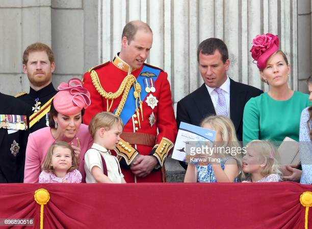 Catherine Duchess of Cambridge Princess Charlotte of Cambridge Prince George of Cambridge Prince William Duke of Cambridge Peter Phillips Autumn...