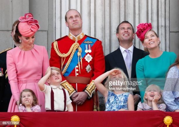 Catherine Duchess of Cambridge Princess Charlotte of Cambridge Prince George of Cambridge Prince William Duke of Cambridge Savannah Phillips Peter...
