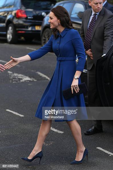 Catherine Duchess of Cambridge seen arriving at the Anna Freud Centre on January 11 2017 in London England