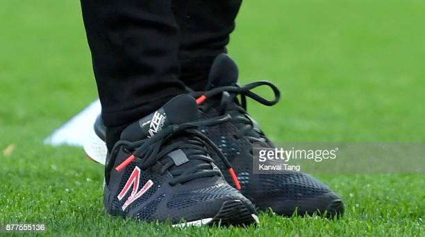Catherine Duchess of Cambridge shoe detail visits Aston Villa Football Club to see the work of the Coach Core programme taking place in Birmingham on...