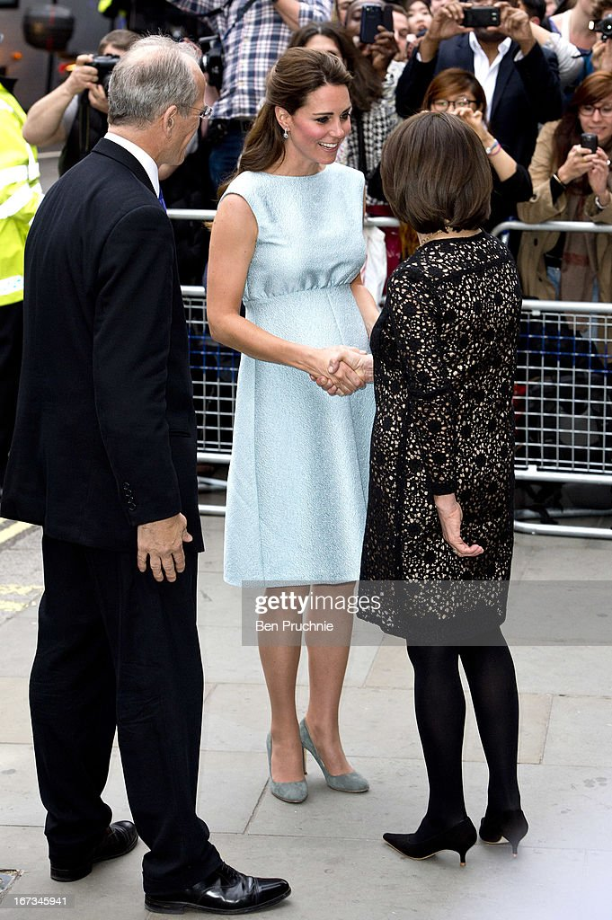 <a gi-track='captionPersonalityLinkClicked' href=/galleries/search?phrase=Catherine+-+Duchess+of+Cambridge&family=editorial&specificpeople=542588 ng-click='$event.stopPropagation()'>Catherine</a>, Duchess of Cambridge sighted arriving at the National Portrait Gallery on April 24, 2013 in London, England.