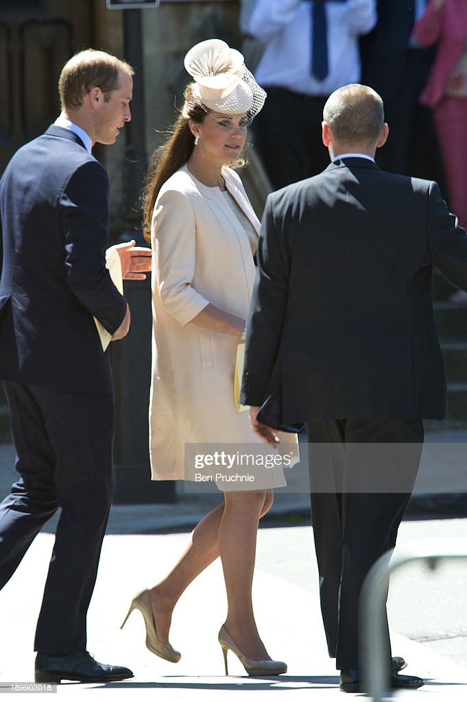 <a gi-track='captionPersonalityLinkClicked' href=/galleries/search?phrase=Catherine+-+Duchess+of+Cambridge&family=editorial&specificpeople=542588 ng-click='$event.stopPropagation()'>Catherine</a>, Duchess of Cambridge sighted departing the Service Of Celebration For The 60th Anniversary Of The Queen's Coronation on June 4, 2013 in London, England.