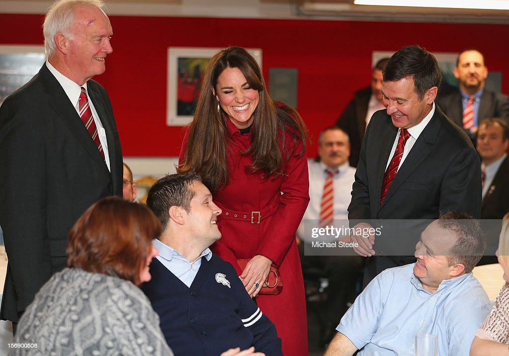 Catherine, Duchess of Cambridge smiles ahead of the Autumn International rugby match between Wales and New Zealand at the Millennium Stadium, Cardiff on November 24, 2012 in Cardiff, Wales.