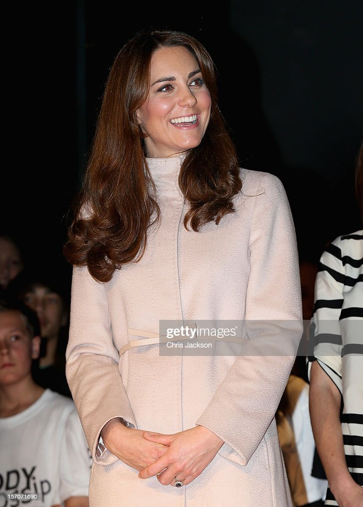 Catherine, Duchess of Cambridge smiles as she visits Manor School as she pays an official visit to Cambridge with Prince William, Duke of Cambridge on November 28, 2012 in Cambridge, United Kingdom.