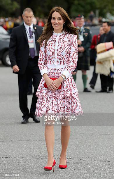 Catherine Duchess of Cambridge smiles as she visits the Canadian Coast Guard and Vancouver First Responders Event at Kitsilano Coastguard Station on...